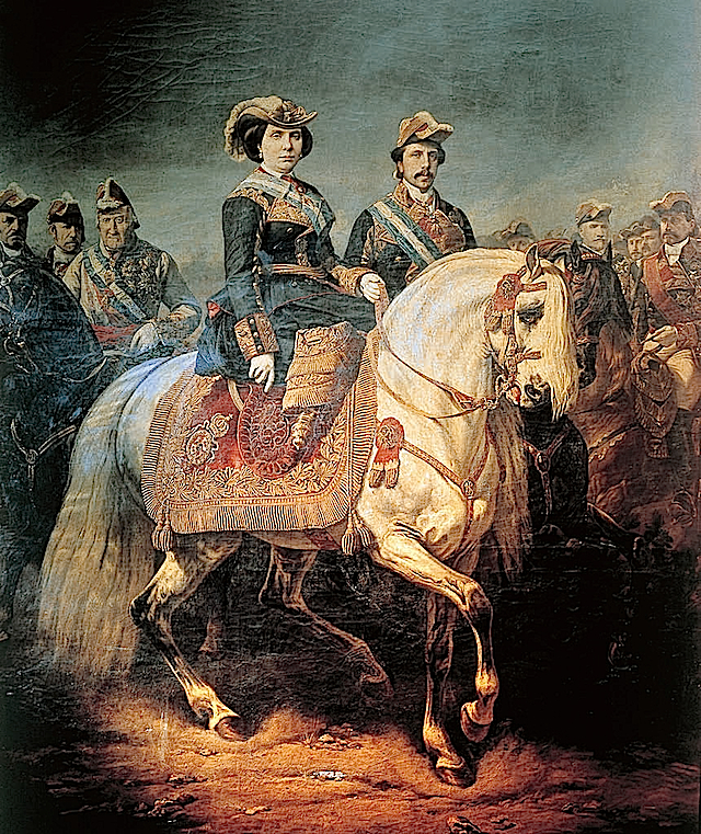 1848 Isabel II at a military review by Louis Charles Porion FDxalb1988 16Apr10