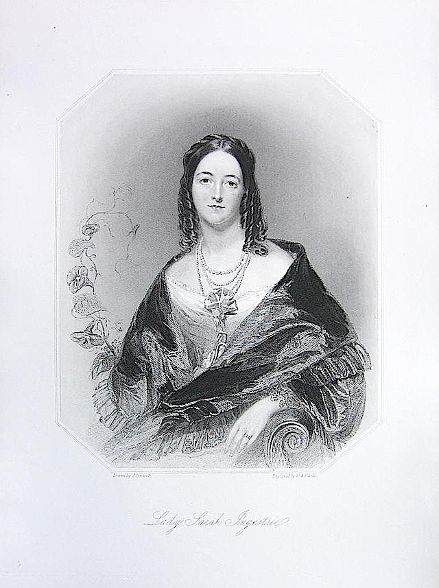 1849 (publication date) Lady Sarah Ingestrie