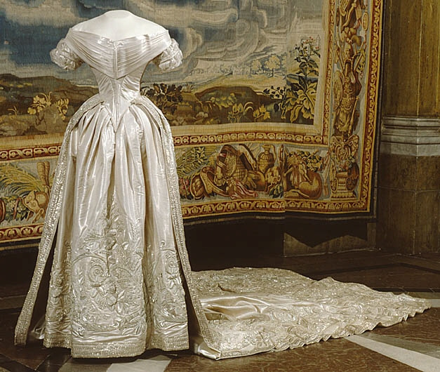 1850 Wedding Dress Of Louise Sweden Livrustkammaren Royal Palace Stockholm