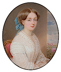 1850s Princess Marie Amalie of Baden Miniature by Emanuel Thomas Peter (Boris Wilnitsky)