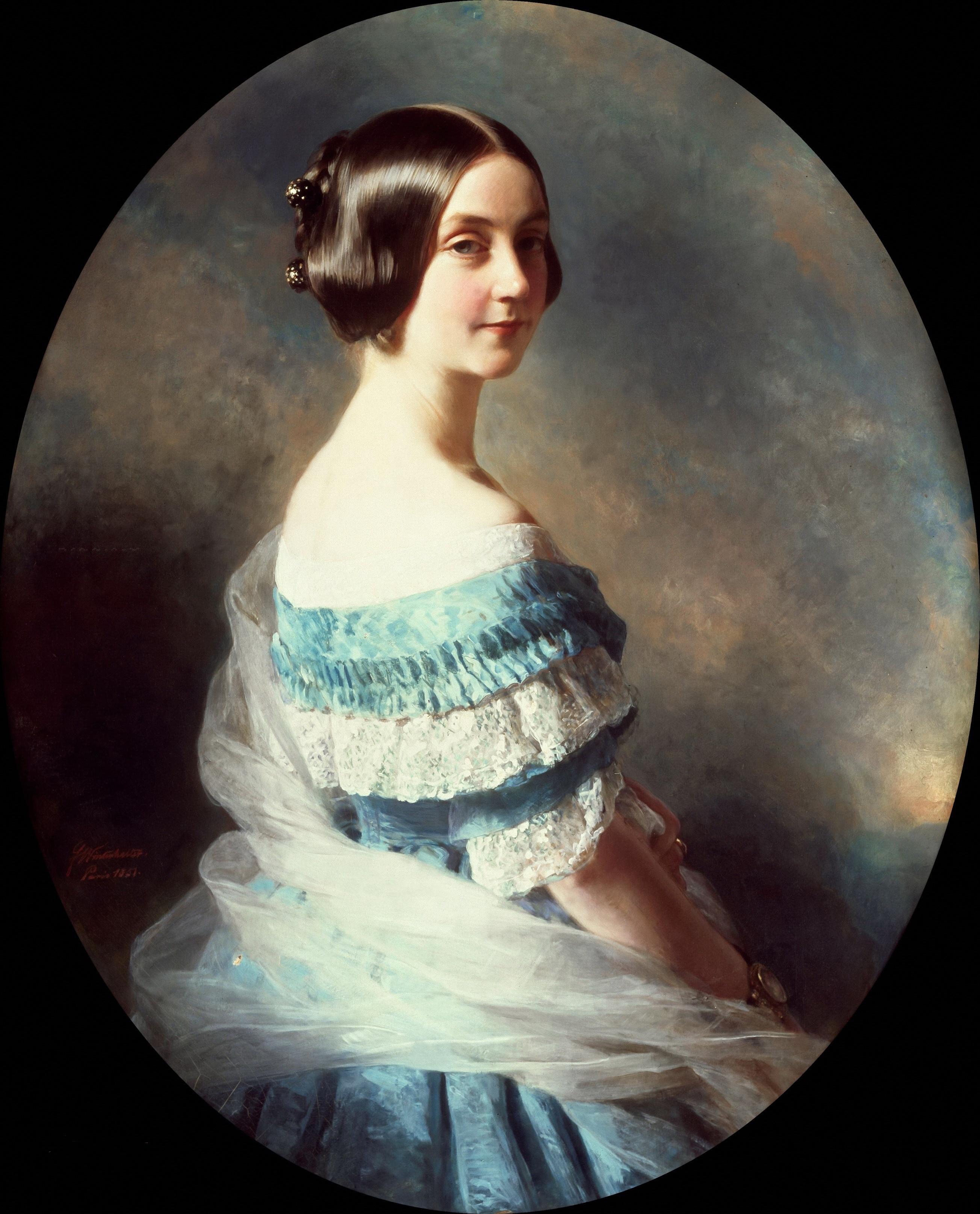 1851 Baronne Helene Mallet Ne 233 Bartholdy By Franz Xaver