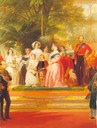 1851 Victoria and Albert at the opening of the crystal palace by Henry Courtney Selous (Victoria and Albert Museum, London) detail