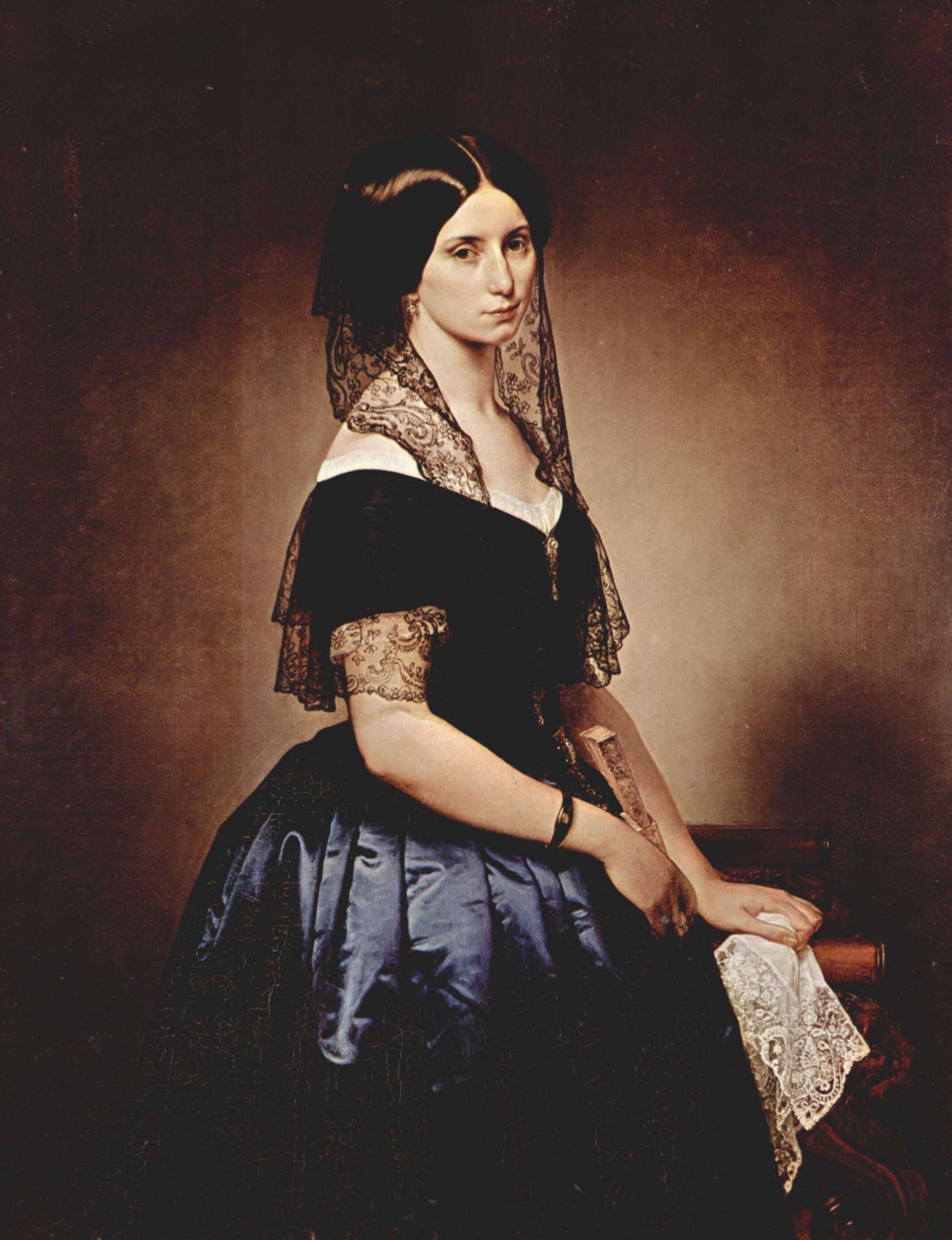 1851 Antonietta Tarsis Basilico by Francesco Hayez (private collection ...