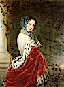 1852 Empress Alexandra Feodorovna (Charlotte of Prussia) by Christina Robertson (location unknown to gogm)