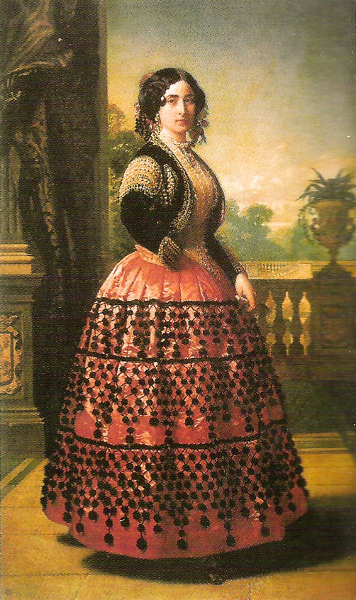 1854 Angela, Duquesa de Medinaceli By Federico Madrazo y Kunz (location unknown to gogm) FDxMinnie 10Oct08