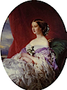 1854 Empress Euegénie by Franz Xavier Winterhalter (private collection)