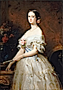 1854 Eugénie de Montijo shown in a ball dress, wearing the sash of the Grand-Croix of the order of noble ladies of Marie-Louise of Spain by Edouard Louis Dubufe (Versailles)