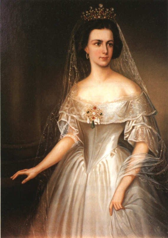 1854 Sissi in court gown