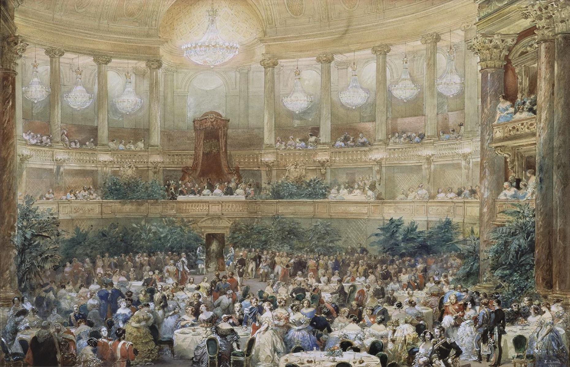 1855 visite de la reine victoria paris en 1855 le for Salle de bain louis xv versailles