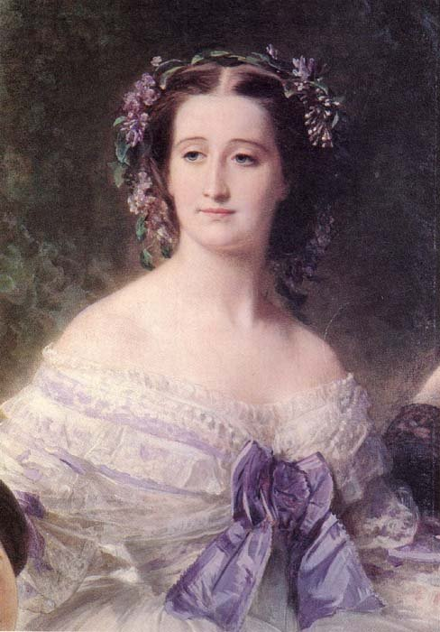 1855 Eugenie from Eugenie and ladies by Franz Winterhalter