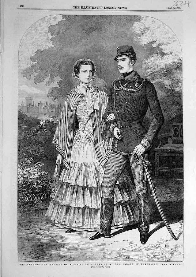1855 Franz Joseph and Sissi