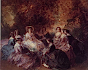 1855 sketch for Eugénie and her ladies by Franz Xavier Winterhalter (private collection)