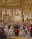 ca. 1855 Arrival of H. M. the Queen to the Palais de Saint-Cloud by Charles-Louis Müller (Royal Collection)