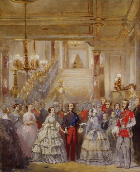 1855ca. Arrival of H. M. the Queen to the Palais de Saint-Cloud by Charles-Louis Müller (Royal Collection)