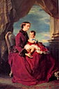 1857 The Empress Euegénie holding Louis Napoleon by Franz Xavier Winterhalter (private collection)
