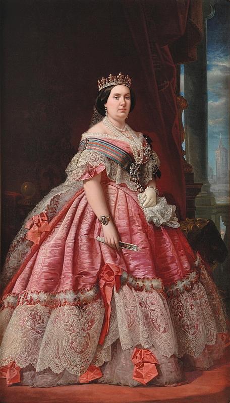 Young Queen Elizabeth 1 Dress 1858 Isabel II by ? (l...