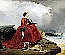 1858 Eugénie at Biarritz by E. Defonds (Chateau de Compiegne)