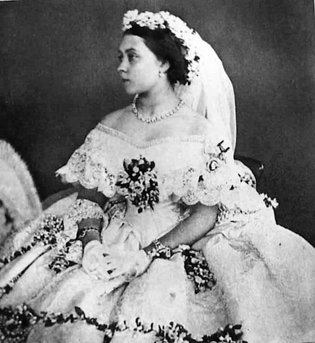 1858 Princess Royal Victoria's wedding dress