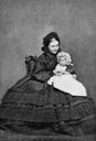 1860 Crown Princess Victoria and a child