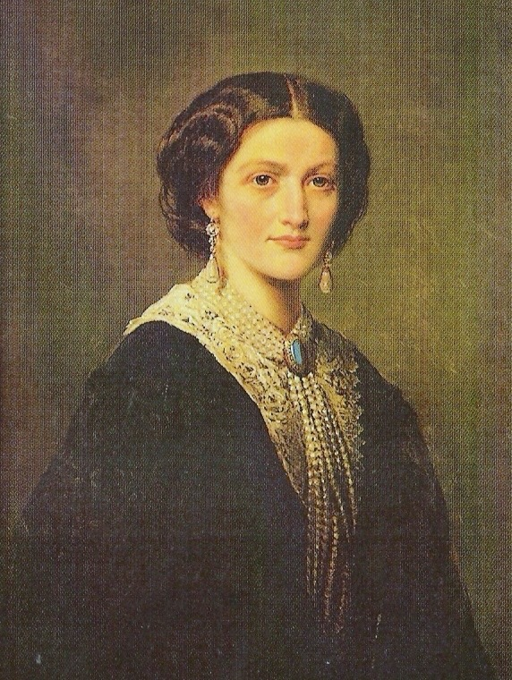 1859 Countess Maria Potocka (1830-1903), née Princess Sanguszkowa by Franz Xaver Winterhalter copy (original in private collection, location of this copy unknown to gogm) From pinterest.com:carycaiv:polish-nobility-in-art: made lighter