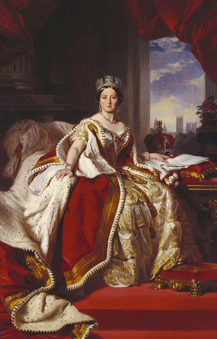 1859 Victoria, Queen of Great Britain and Ireland in the Robes of State by Franz Xavier Winterhalter (Royal Collection)