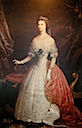 1859 Elisabeth wearing court dress by ? (location unknown to gogm)