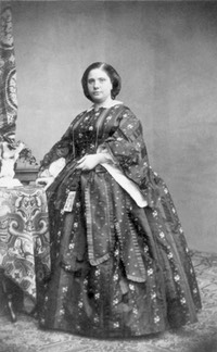 1860 Infanta Amalia de Borbón, Prinzessin von Bayern by ? (Royal Collection) Wm smudges in background and spots throughout image removed with Photoshop