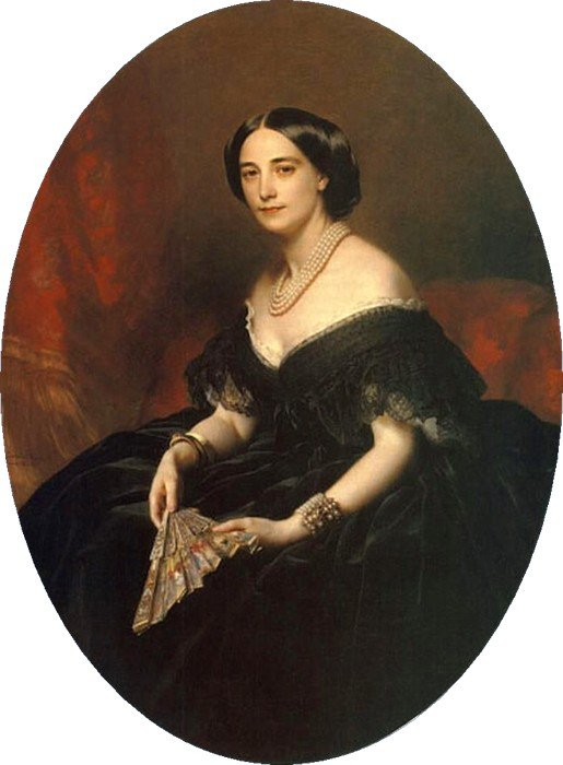 1860 Princess Maria Alexandrovna Obolenskaia née Princess Lvova by Franz Xavier Winterhalter (private collection)