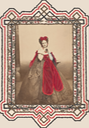 1861-1867 The Red Bow Countess Virginia Oldoini Verasis di Castiglione colorized print (Metropolitan Museum of Art - New York City, New York, USA) From the museum's Web site fixed upper vertex outer band despotted background fixed size
