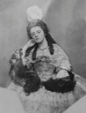 1862 (?) Isabella Grace (half-length), in fancy dress (eighteenth-century style) (Victoria and Albert Museum - London, UK) deflaw detint X 2