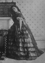 1862 Lady Isabella Grace, in fancy dress (Spanish style) or evening dress