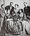 1862 15 year-old Maria Pia posing with her family before leaving for Portugal