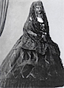 1862 Sissi wearing a veil