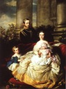 1862 Emperor Frederick III of Germany with his wife, Empress Victoria, and their children, Prince William and Princess Charlotte by Franz Xavier Winterhalter (Royal Collection)