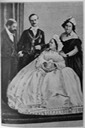 1863 Very retouched picture of Maria Letizia and Urbano Rattazzi on their wedding day From rocaille.it/mariae-letizia-studolmina-wyse-rattazzi/ deprint detint