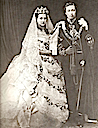 1863 Alexandra and Edward black and white wedding photo