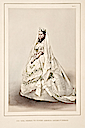1863 Color Princess Alexandra wedding dress illustration