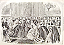 1863 print Crown Princess of Prussia at Saint James Palace