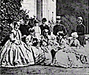 1864 Danish royal family group portrait