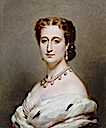 1864 Eugenie, Empress Consort of the French by Franz Xaver Winterhalter (Chateau de Compiegne)