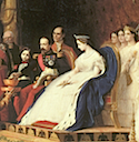 1864 Napoleon III and Empress Eugénie from La réception des ambassadeurs du Siam à Fontainebleau by Jean-Léon Gérôme (Musée national du château de Fontainebleau)