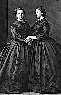 1864 Princesses Helena and Louise, probably by Hills and Saunders cropped