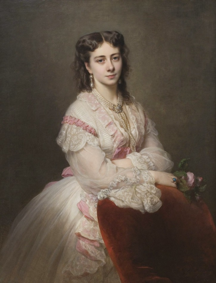 1865 Countess Marie Branicka de Bialacerkiew by Franz Xaver Winterhalter (Philadelphia Museum of Art - Philadelphia, Pennsylvania, USA) From theebonswan.blogspot.com:2014:05:countess-marie-branicka-de-bialacerkiew.html