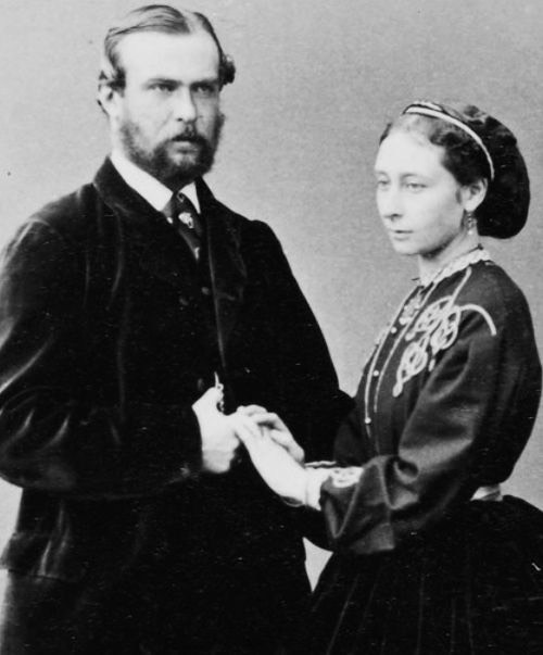 1865 (November) Princess Alice and Ludwig IV photo From pinterest.com:dianariveraguil:royals: