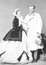 ca. 1865 Princess Sophie of Saxony and her husband Duke Karl Theodor in Bavaria