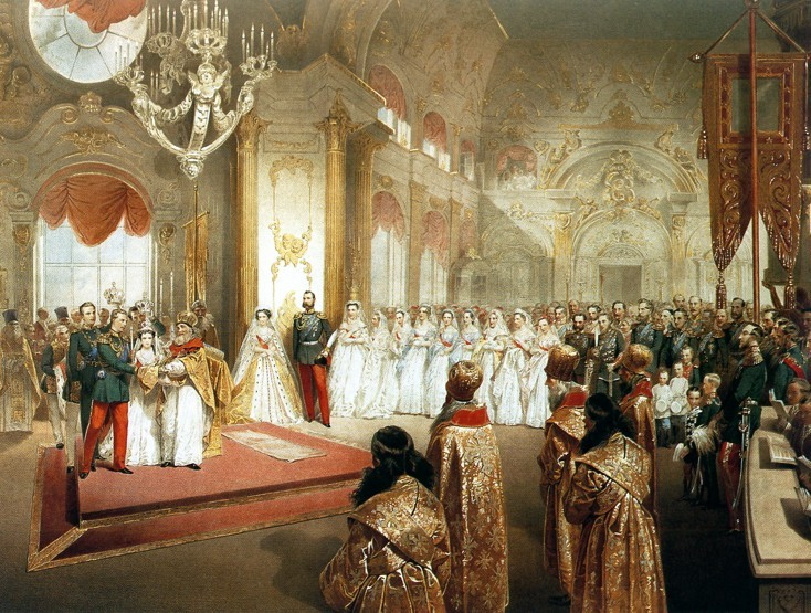 Russian Royal Wedding Dresses : Dagmar s wedding to grand duke alexander