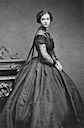 1866 Dagmar wearing evening dress