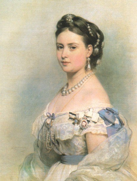 1867 Crown Princess Victoria by Franz Winterhalter (Royal Collection)