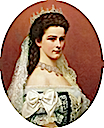 1867 Empress Sisi in oval by Georg Raab (Kunsthistorisches Museum, Wien)