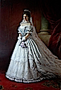 1867 Sisi wearing her Hungarian coronation dress by ? (location unknown to gogm)
